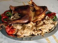 Roast turkey with mlinci